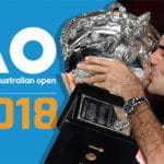 Roger Federer kissing the trophy