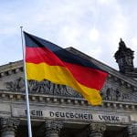 German Bundestag and flag