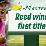 Reed celebrates winning the 2018 Masters