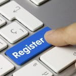 Register button on a keyboard