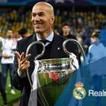 Zidane after winning the Champions League