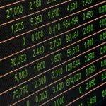 A stock board