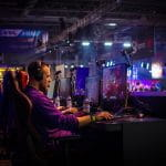 A man competing in eSports