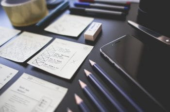 Pencils, a phone, and notes
