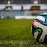 Close up of a football