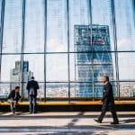 Businessmen in financial district