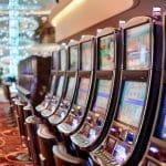 Slot machines in a row in a casino