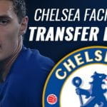 Chelsea transfer ban preview, with a close up of a player