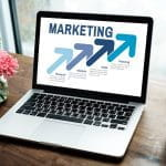Laptop with marketing image