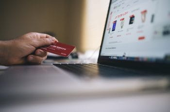Credit card and laptop