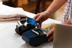 A credit card transaction