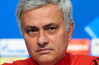 Mourinho at a press conference