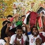 Qatar celebrating winning the 2019 Asian Cup