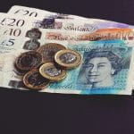 Bank notes and coins, pounds sterling