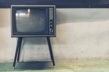A television against a wall