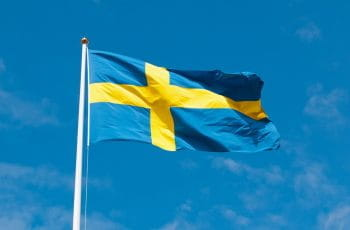 The flag of Sweden