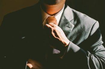 Close up of a businessman.