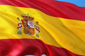 Close up of the Spanish flag.