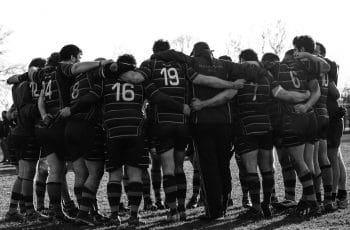 rugby huddle